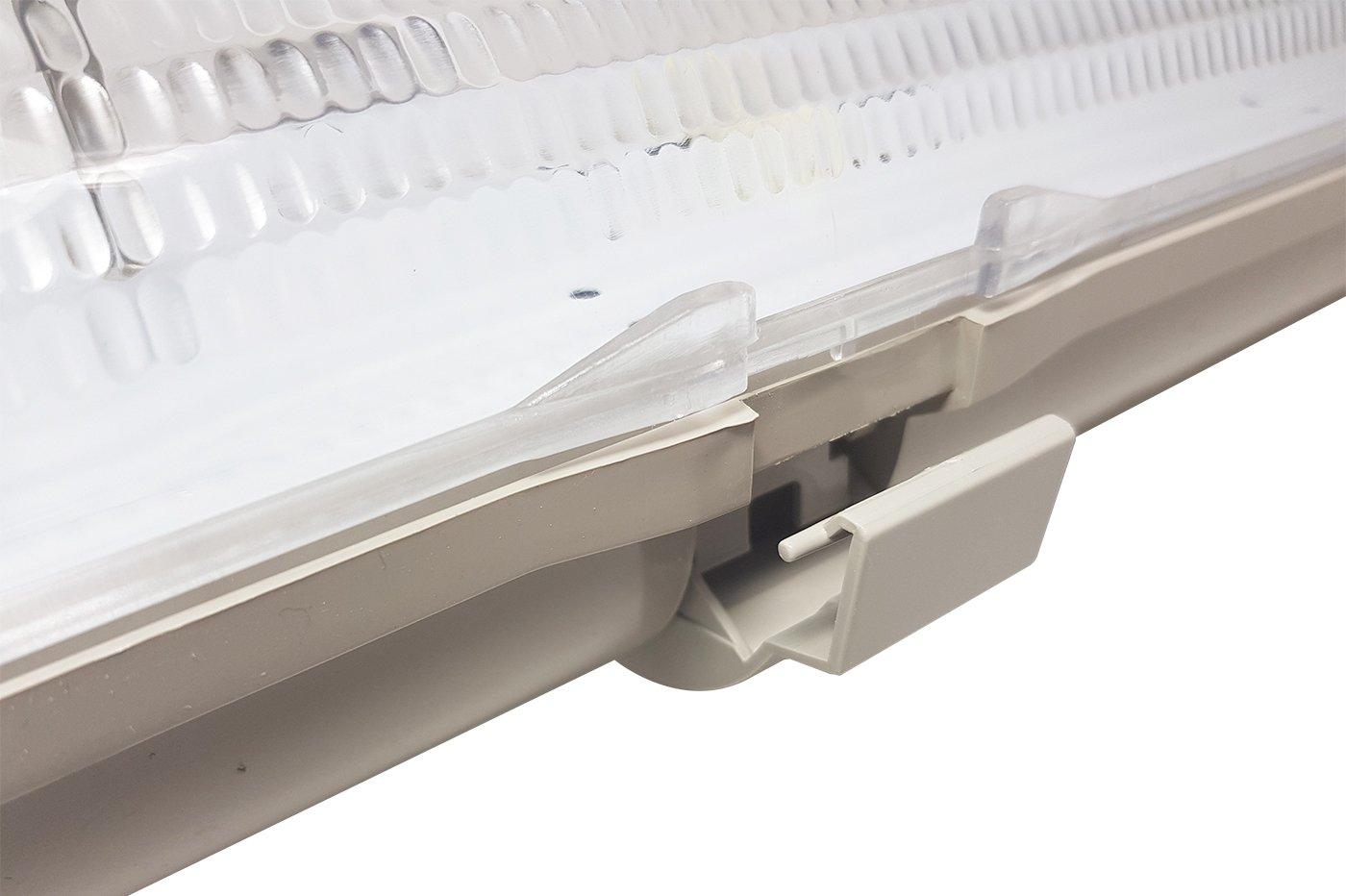 Plafoniera Neon Led Da Esterno : Plafoniera led stagna attacco doppio tubo neon t cm esterno