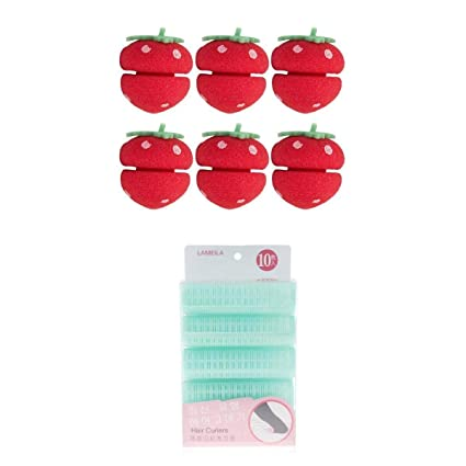 Homyl 6 Unidades Rulos de Bolas de Esponja de Pelo + 10 Unidades Pinzas Rizador de