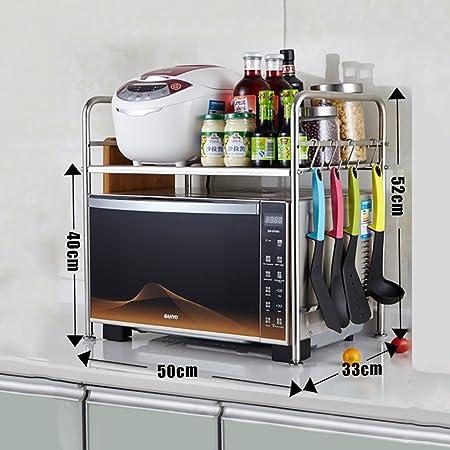 YANZHEN Estantería Cocina Baldas Horno Microondas Horno Multifunción Acero Inoxidable, 7 Modelos Cocina Estantes (Color : A): Amazon.es: Hogar