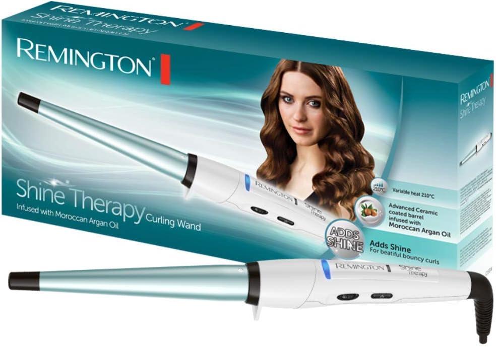 Remington Shine Therapy CI53W -Rizador de Pelo, Barril de Cerámica ...