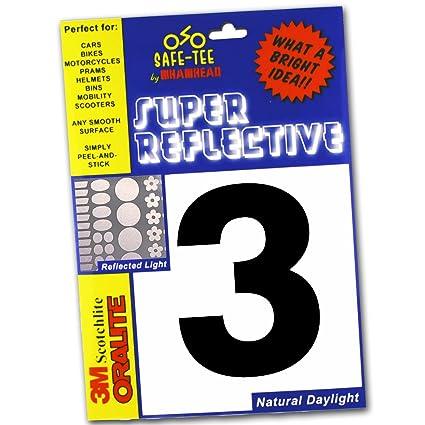 22X22CM SELF ADHESIVE REFLECTIVE NUMBERS