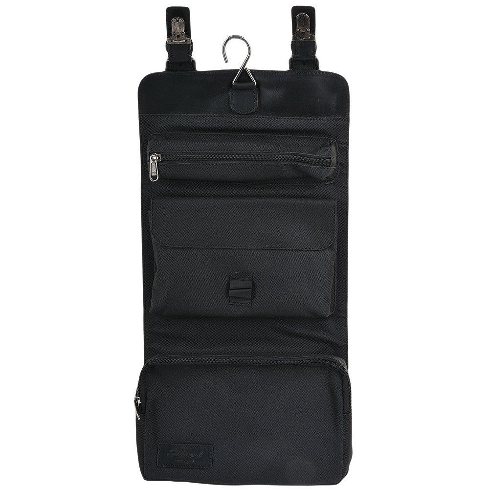 00b9eef80b Amazon.com  Ashwood Mens Ashwood Phil Leather Hanging Wash Bag Black Brown   Clothing