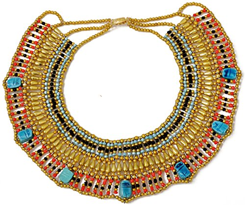 [Cleopatra Necklace Collar ancient Egyptian queen costume jewelry belly dance by CraftsOfEgypt] (Ancient Egypt Costumes)