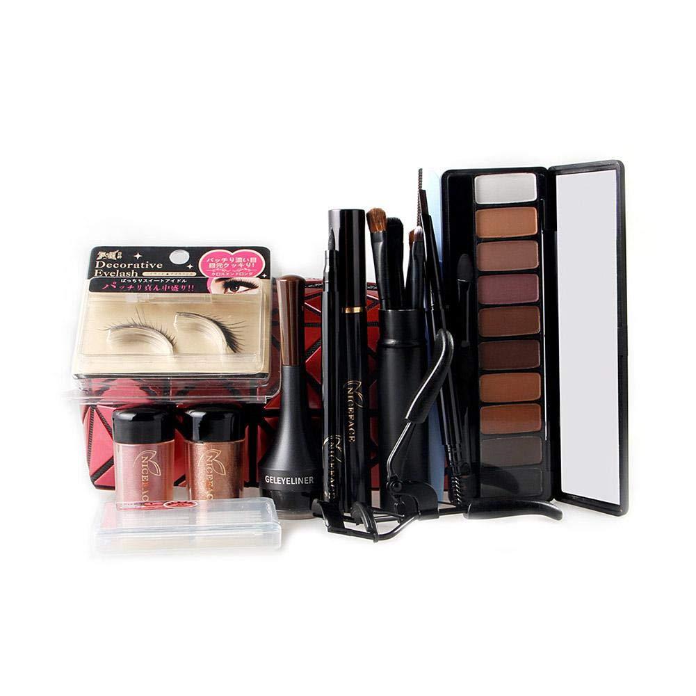 Bolsa de Cosméticos de Navidad Set Eye Shadow Eyebrow Pencil Mascara Kit de Maquillaje Oshide