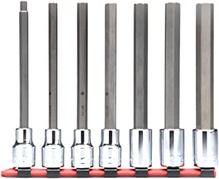 "product image for Wright Tool 316 3/8"" Drive Hex Bit Socket Set, Long Length (7-Piece)"