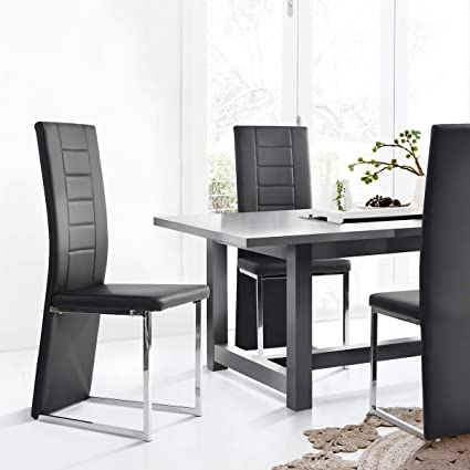 amazon com aingoo black kitchen chairs set of 4 dining chair high