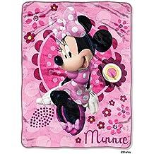 """Disney's Minnie Mouse Throw Micro Raschel Boutique Blanket 46"""" x 60"""""""