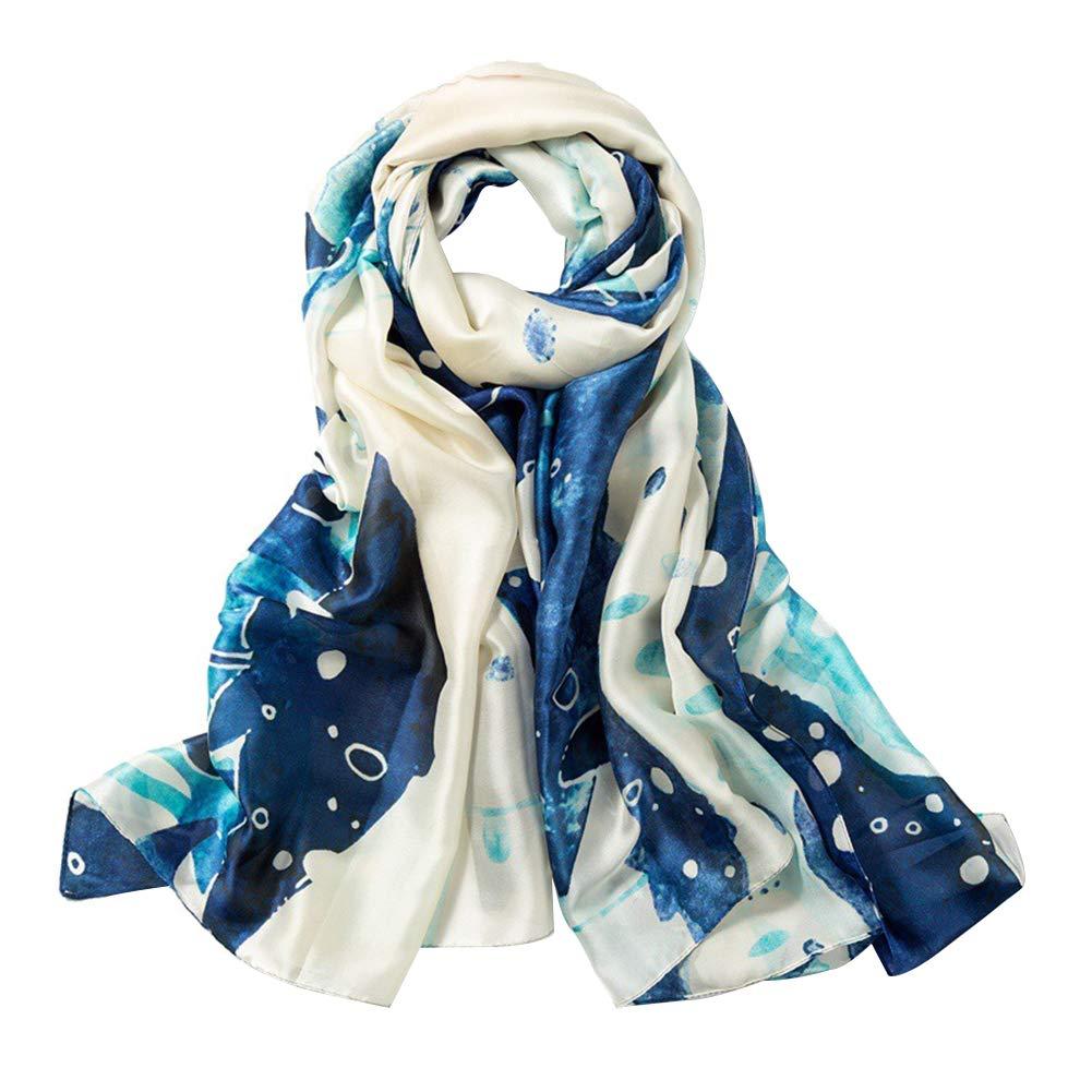 TREESTAR Primavera y otoño Sun chal bufanda de verano de doble uso playa femenina gran protector solar mantón toalla de playa bufanda de seda de algodón versátil serie