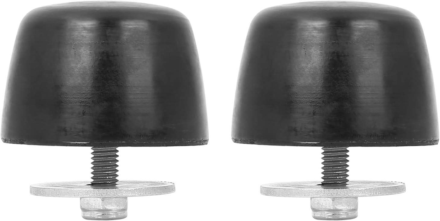 X AUTOHAUX 2 Pcs Black Rubber Bumper Cushion Hood Bump Stop for Jeep Wrangler JK 2018 KJ71051BK