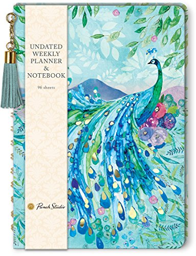 Pagoda Peacock Undated Weekly Planner by Punch Studio