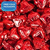 Madelaine Milk Chocolate Hearts, Red Foil - 2lb Bag, Approx 120 Pieces