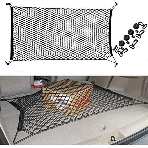 RONSHIN 120x70cm Starkes elastisches Nylonfrachtgep/äck-Speicher-Organisator-Ineinander greifen-Netz mit Haken f/ür Auto-Van-Aufnahme SUV MPV
