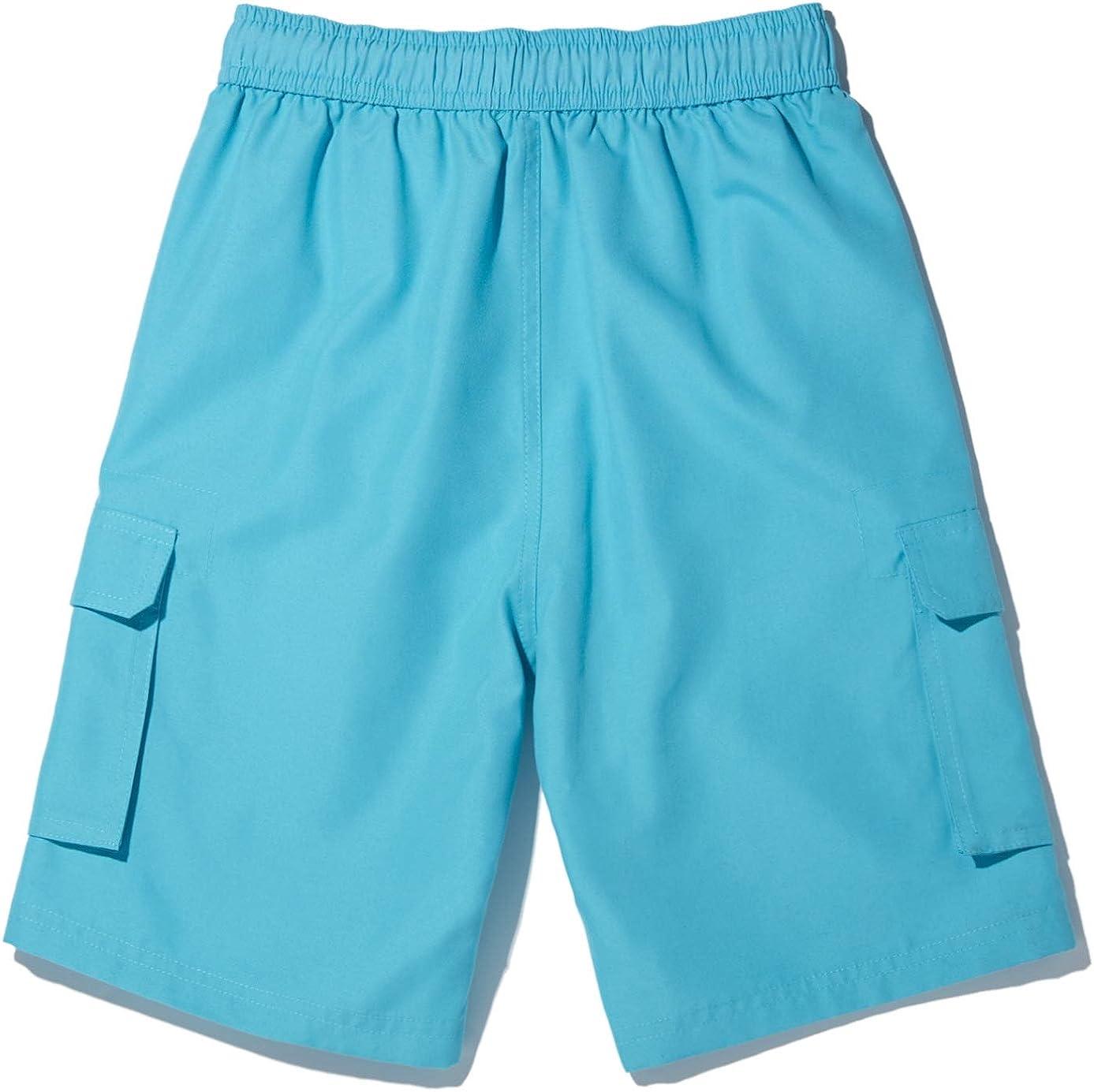 Quick Dry UPF 50 TSLA Boys Swim Trunks Beach Board Swim Shorts Swimsuit Swimwear with Inner Mesh Liner