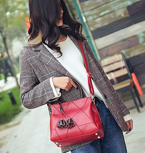 For Bags layer Women Crossbody Red handle Multi Women's Hit Bags Color Bags Top Leisure Handbag Shoulder vwwOqagF