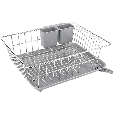 Metal Dish Drying Rack.Whitgo Dish Drying Rack With Drain Board Stainless Steel Dish Drainer Drying Rack With Utensil Holder For Kitchen Counter Dish Drain Rack With One