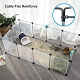 Pet Playpen Animal Fence Cage - Tespo Expandable Plastic Transparent...