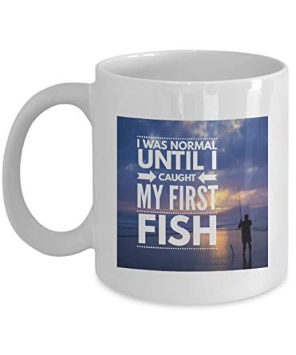 Fisherman Fishing Fish Funny Coffee Cup Mug Novelty Gifts - 11oz Ceramic Perfect Present For Husband