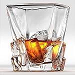 Iceberg Whiskey Glasses Scotch Glasses By Ashcroft Set of 2 Unique Elegant Dishwasher Safe Glass Liquor or Bourbon Tumblers Ultra Clarity Glassware 15 3 Ounce