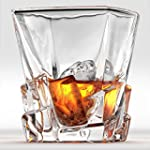 Iceberg Whiskey Glasses Set Of 2 Perfect Whisky Glass or Scotch Glasses