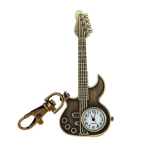 Joyas de Bolsillo de Cuarzo Surwin pocket watch guitarra llavero ...