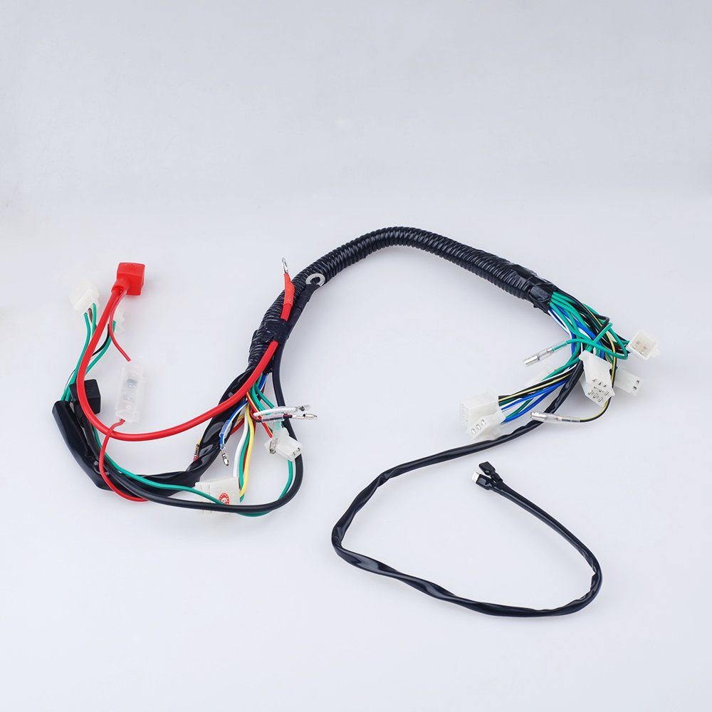 Electric Start Wiring Harness Wire Loom Pit Bike Atv 110 Cc Engine Diagram Quads 50 125cc Go Kart Automotive