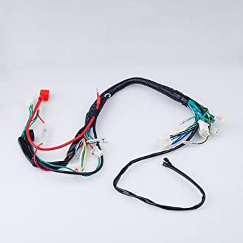 61Pk1kDHKUL._SY355_ amazon com electric start wiring harness wire loom pit bike atv pit bike wiring harness at soozxer.org