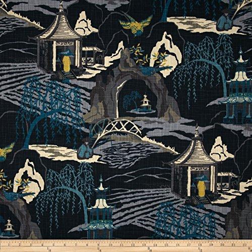 (Robert Allen Neo Toile Fabric, Indigo)