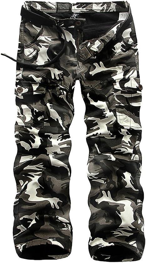 Yonglan Hombres De Algodón De Carga Secundarios Combate Pantalones ...