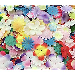 PEPPERLONELY Brand Silk Flower Petals 10 Gram, 110PC + Flower Petals, 15~50mm (9/16~2 Inch)