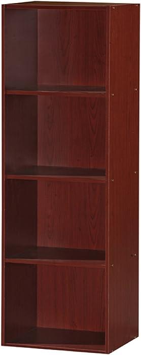 Hodedah 4 Shelve Bookcase, Mahogany