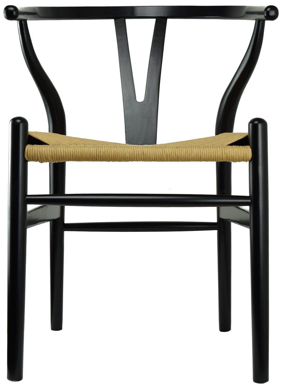 Amazon.com: Juego de 2 sillones de madera con brazos ...