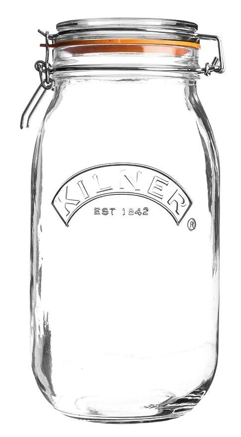 Kilner mit Flip... facettiertes Glas 1,8 Liter Vorratsglas Vorratsdose