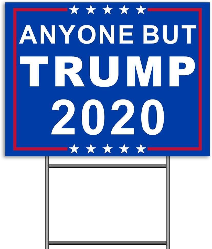 Amazon Com Anyone But Trump Yard Sign 2020 Nope Sign Biden Yard Sign Biden Harris 2020 Anti Trump Yard Signs 2020 Double Sided Print Waterproof Joe Biden Yard Sign With 17 Heavy