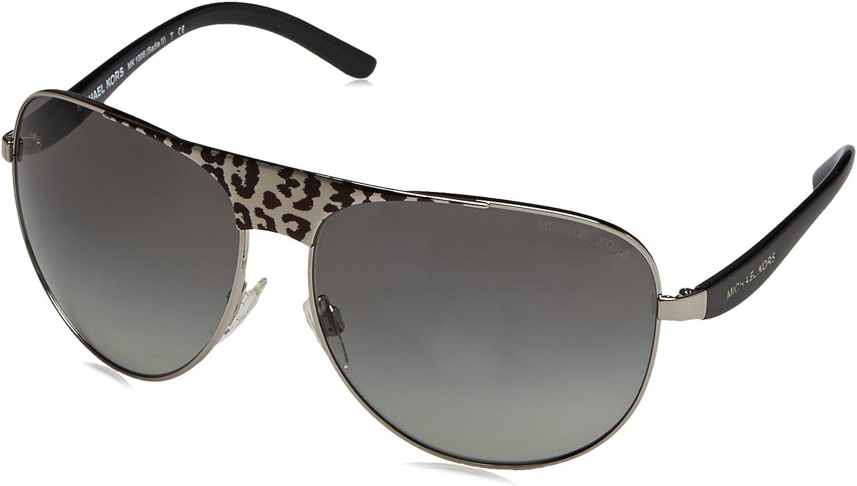 Michael Kors MK1006 105911 BlackSilverLeopard Sadie II Pilot Sunglasses S