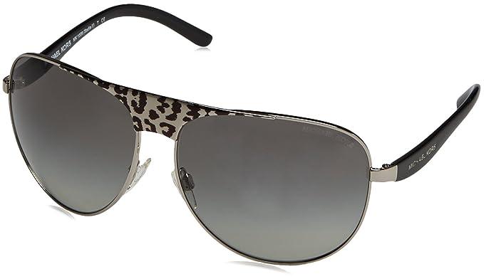 MICHAEL KORS Unisex-Adult s MK1006 Sadie II Sunglasses, Black Silver  105911, ... 4a98e0228b94