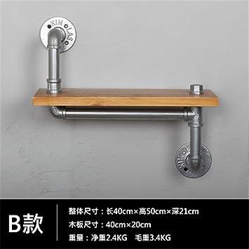 Tuberías de agua industrial Sepia bandeja para rack para colgar en la pared de hierro tan