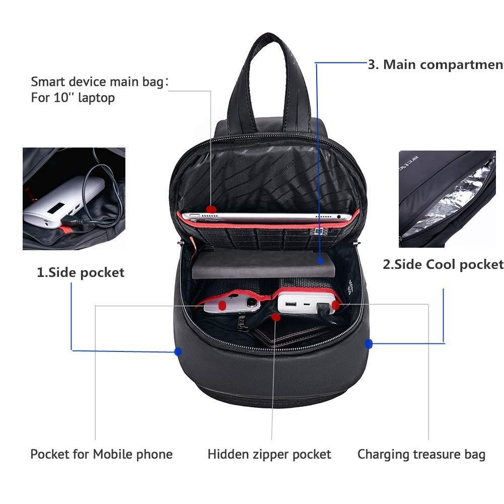 Waterproof Crossbody Sling Bag Anti Theft Backpack Outdoor Chest Bags Casual Daypack Hiking Shoulder Bag for Men Women