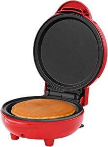 """Holstein Housewares HH-09125014R Personal Non-Stick Griddle, 4"""", Red"""