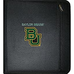 C.R. Gibson 3-Ring Zipper Binder, Pocket Inside, Water Resistant, Licensed by NCAA, Measures 12.5\