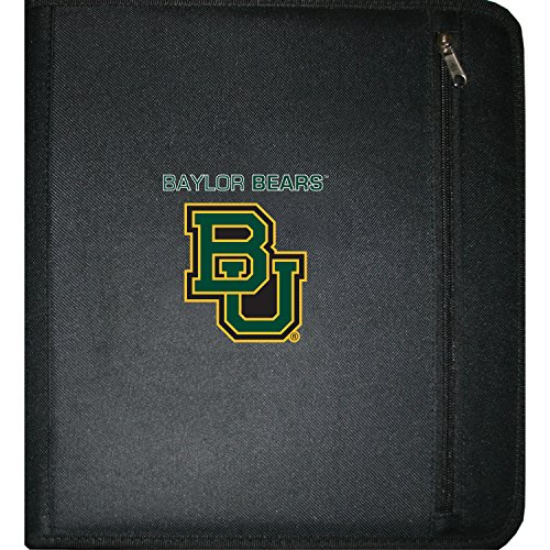 (C.R. Gibson 3-Ring Zipper Binder, Pocket Inside, Water Resistant, Licensed by NCAA, Measures 12.5