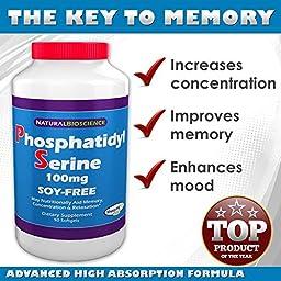 Phosphatidylserine Soy-Free, 100mg, 90 Softgels. Patented Sharp-PS® Formula. (1)