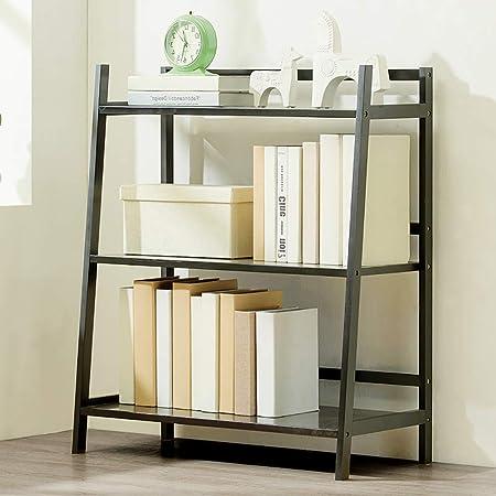 Bambú Repisa escalera Estantería de bambú,Montaje fácil Librería anaquel Estantes de madera abiertos Espesado Estante del almacenaje Multifuncional Para hogar u oficina-G 70x35x85cm(28x14x33inch): Amazon.es: Hogar