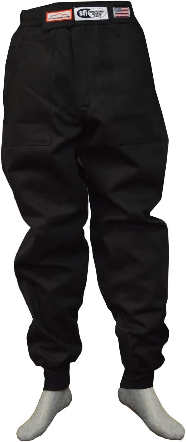 Racerdirect JR FIRE Suit Race Suit Pants SFI 3.2A//1 Black Size Kids 12-14
