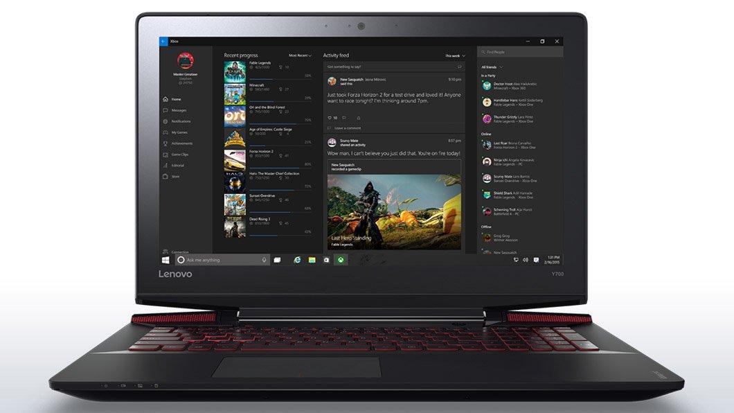 Lenovo Y700 - 15.6 Inch Full HD Gaming Laptop (Core i7, 16 GB RAM, 1 TB HDD, Windows 10) 80NV0028US by Lenovo (Image #1)