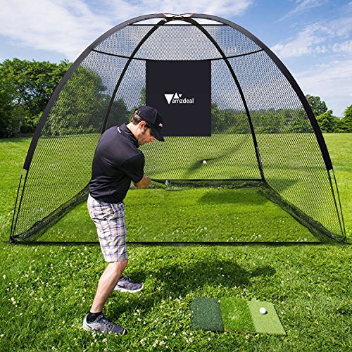 Amzdeal Golf Practice Net Golf Driving Hitting Net for Backyard Indoors Outdoors Golf Cage Trainging Aids with Target Sheet by Amzdeal (Image #5)