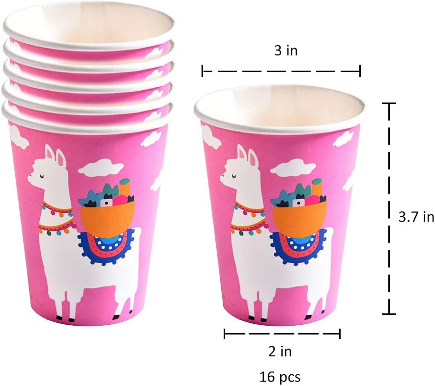 Amycute 96 Pack Pink Flamingo Disposable Tableware Set,Flamingo Party Disposable,Badge Plates Forks Cups Napkins,Baby Showers Birthday Party Favors Decorations Supplies