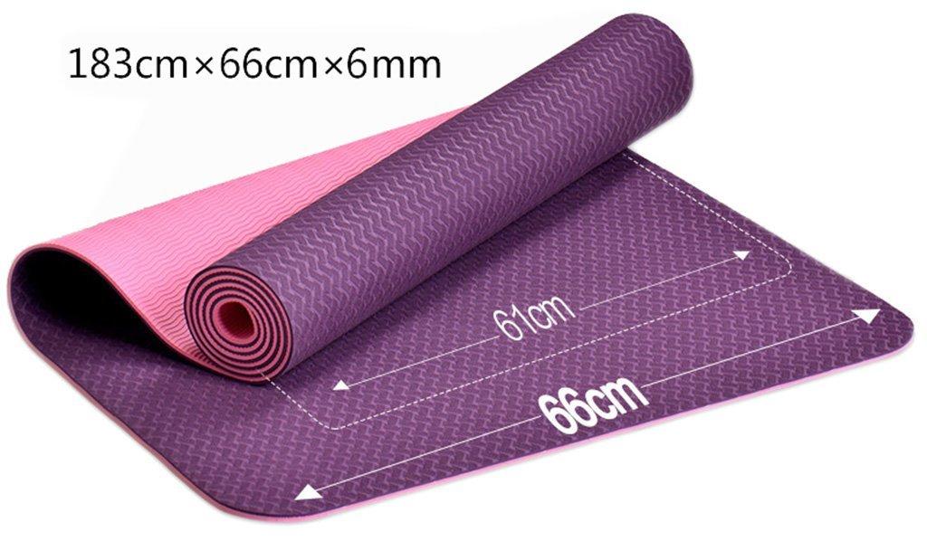 Violet EU8 Tapis de Yoga Tapis d'exercice Anti-dérapant pour Tapis de Yoga -