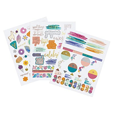 Erin Condren Designer Sticker Pack - Motivation & Celebration Sticker Pack Trio Includes 3 Sticker Sheets, 100+ Stickers: Office Products