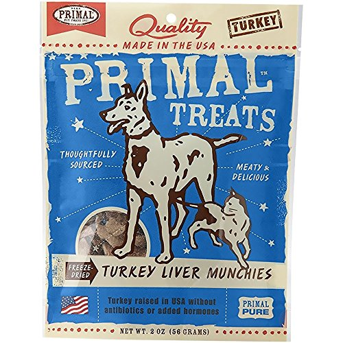 Primal Pet Foods Turkey Liver Munchies Pet Treat 2 oz