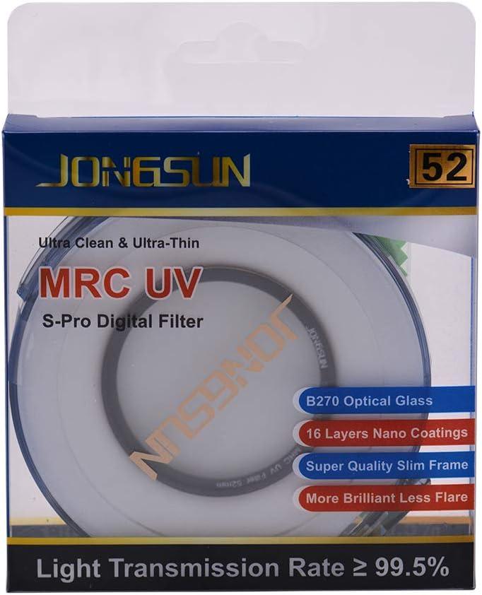 JongSun S-Pro HD Nano MRC Filtre UV 58mm SCHOTT B270 16-Couches Multicouche Rev/êtement Cam/éra Protection UV Filtre